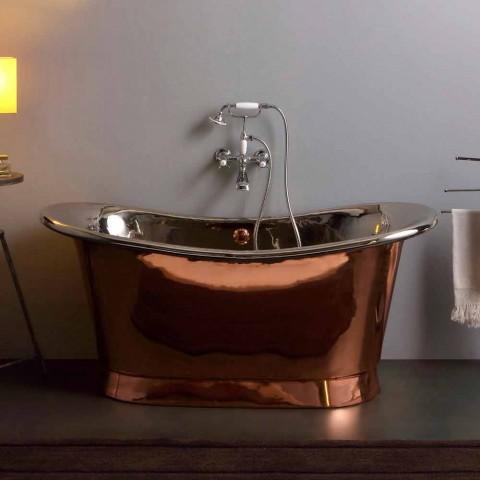 Bath utformning fristående nickel och koppar Angelica