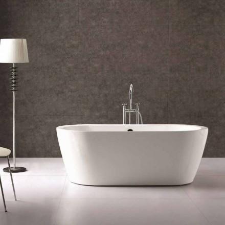 Bath design i vit akryl fristående Nicole 1775x805 mm