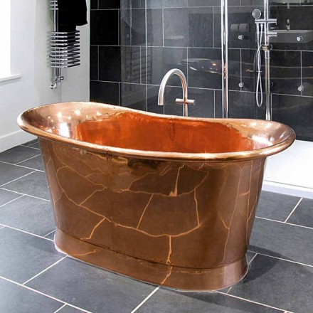 Bath konstruktion fristående Lucido Peggy koppar