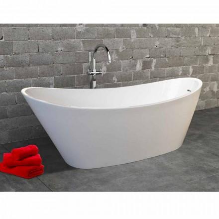Fristående badkar i akryl vitt modern design Nataly, 1700x745mm
