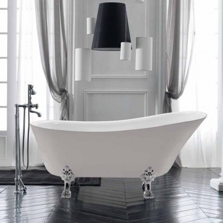 Fristående badkar design i vit akryl Summer 1700x720 mm