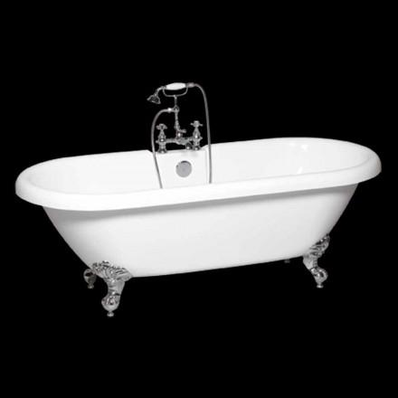 Fristående badkar i modern vit akryl Sunshine 1774x805 mm