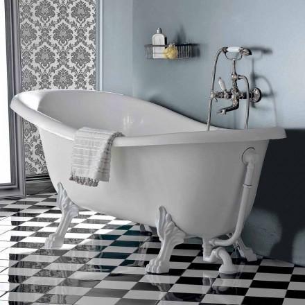 Fristående badkar i vintagestil akryl, tillverkad i Italien - Tabea