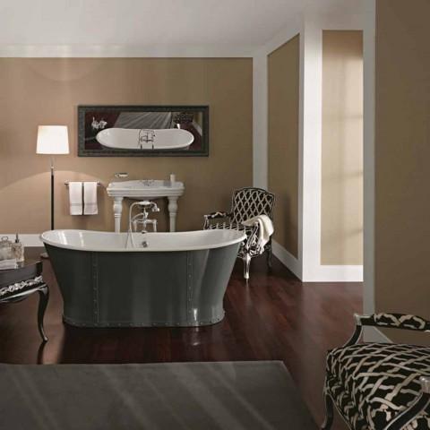 Fristående badkar i gjutjärn med original design Cox