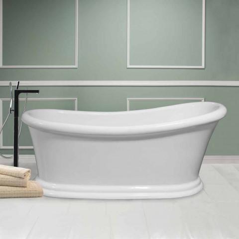 Bath vit modern fristående akryl Winter 1710x730 mm