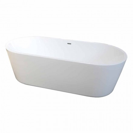 modern fristående badkar vit akryl 1675x780mm Nicole2 Small