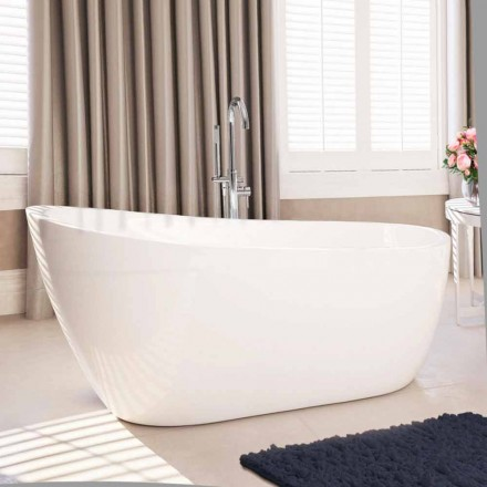 modern fristående badkar vit akryl 1730x775 mm Abbie