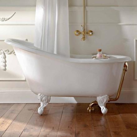 Fristående badkar i vintage gjutjärn gjord i Italien - Paulina
