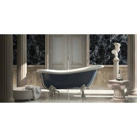 Fristående blått hartsbadkar i klassisk design, Fregona tillverkat i Italien
