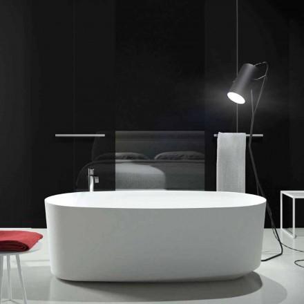 Fristående monoblock designbadkar producerat i Italien, Dongo