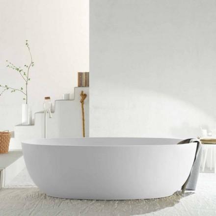 Modernt oval fristående monoblockbadkar tillverkat i Italien, Frascati