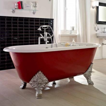 Vintage fristående badkar med gjutjärnsfötter, tillverkad i Italien - Naike