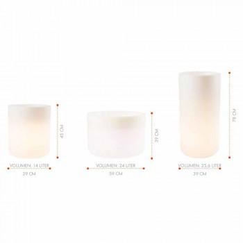 Vas med trädgårdsljus eller vardagsrumsfärgad modern design - Cilindrostar