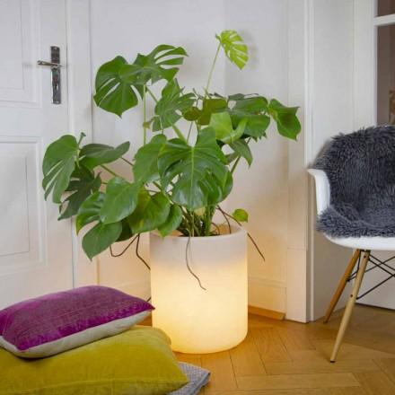 Vas med solbelysning eller LED-design för inomhus eller utomhus - Cilindrostar