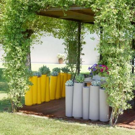 Utomhus dekorativa vas Slide Bamboo modern design gjord i Italien