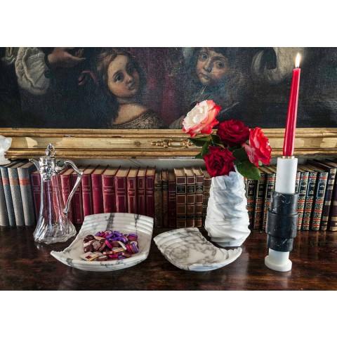 Arabesque marmor design dekorativ vas tillverkad i Italien - Brock