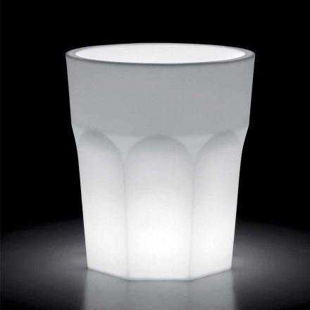 Ljus dekorativ vas av polyeten med LED-ljus Tillverkad i Italien - Pucca