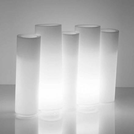 Ljus dekorativ vas utanför / insida Slide Bamboo gjord i Italien