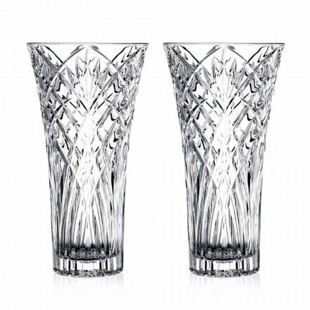 Vintage design vas i genomskinlig ekologisk kristall 2 delar - Cantabile