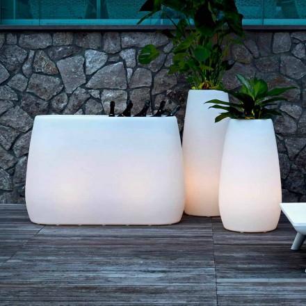 Planter vas i lysande plast, design i 3 storlekar, 2 stycken - Pandora från Myyour