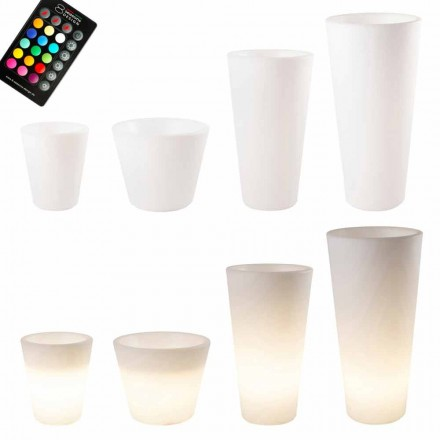 Flerfärgad eller Solar LED-upplyst kruka för trädgård eller vardagsrum - Vasostar