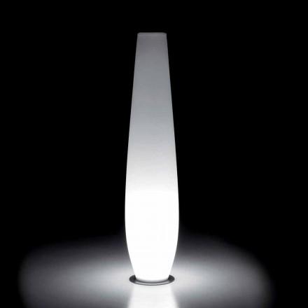 Utomhusvas med LED-ljus i polyeten Tillverkad i Italien - Nadai