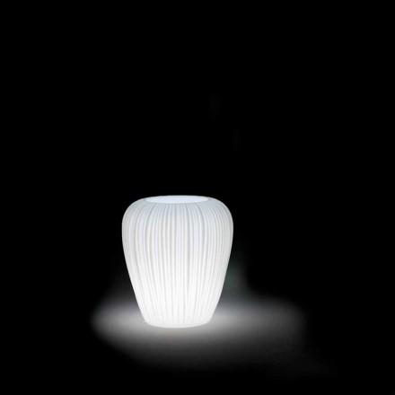 Modern design lysande utomhusvas i polyeten, 2 stycken - hud av Myyour
