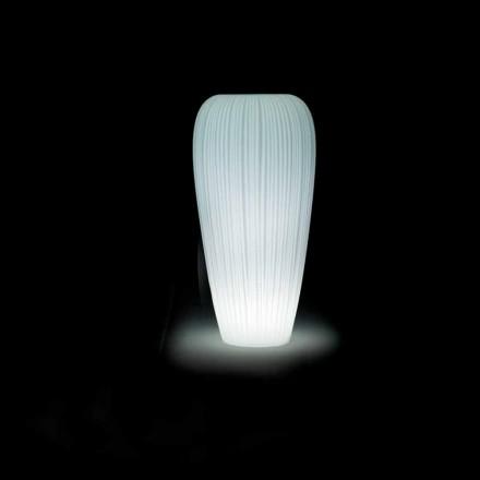 Ljus utomhusvas i modern designpolyeten - Hud av Myyour