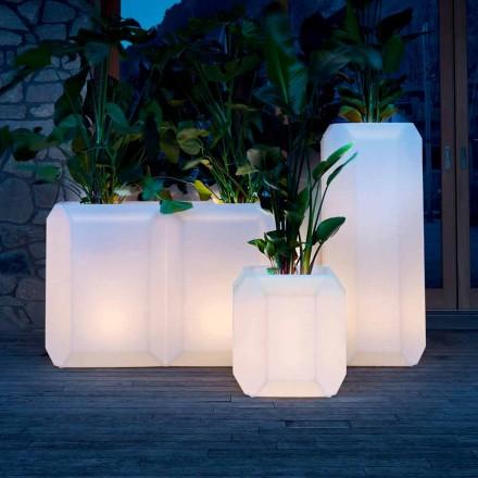 Ljus vas i plast för utomhus eller inomhus, 3 storlekar, 2 stycken - Pärla av Myyour