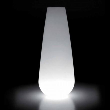 Lysande vas för utomhusdesign i polyeten Tillverkad i Italien - Menea