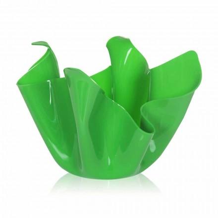 Grön vas inomhus / utomhus design draperad Pina, tillverkad i Italien