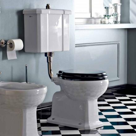 Golvmonterad toalett med keramisk kassett och tillverkad i Italien Black Seat - Marwa