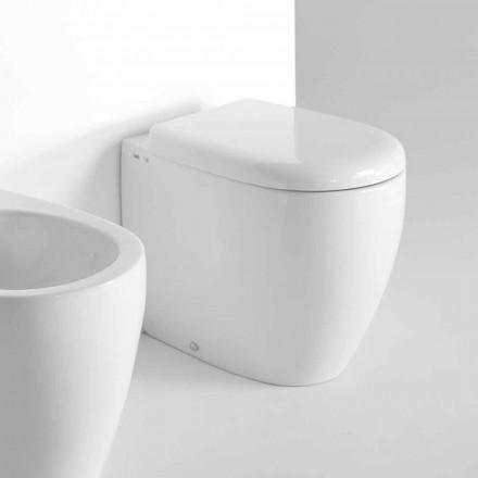 Golvstående WC i modern design i färgad keramik tillverkad i Italien - Lauretta