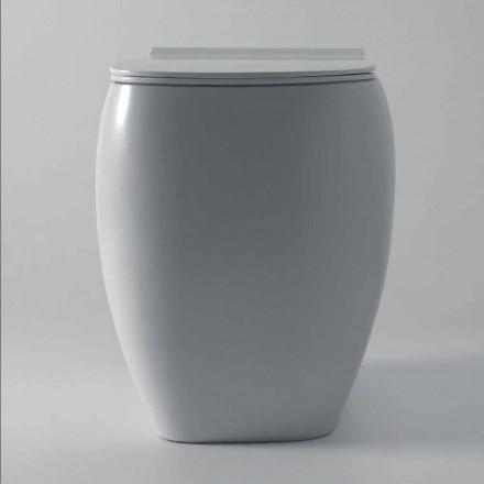 Vit keramisk toalettvase med modern design Gais, tillverkad i Italien