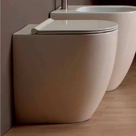 Vas WC i vitt keramik modern design Shine Square H50 Rimless