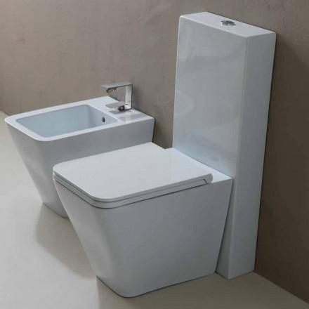 Vas WC i vitt keramik modern design Sun Square, tillverkad i Italien