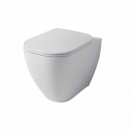 Design toalettvas i vit eller färgad keramisk trabia