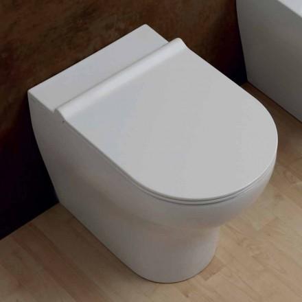 Vas Vit keramik toalett Star 54x35cm Made in Italy, modern design