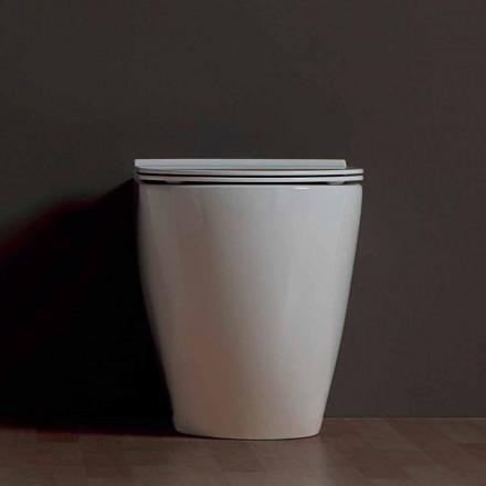 Vas modern toalett vit keramik Shine Square Rimless Made in Italy