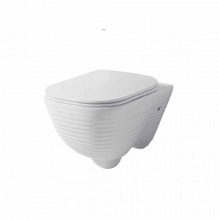 Modern upphängd toalettvase i vit eller färgad keramisk trabia