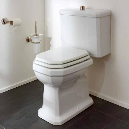 Vit keramisk toalettburk med kassett, tillverkad i Italien - Nausica
