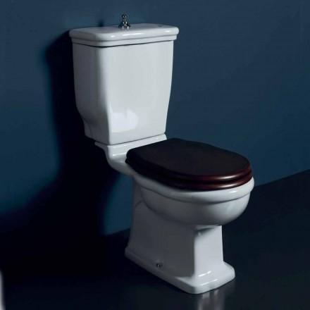 Vaso stycke toalett i vit keramik Style 72x36 cm, tillverkad i Italien
