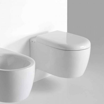 Wall Design WC i modern design i färgad keramik tillverkad i Italien - Lauretta