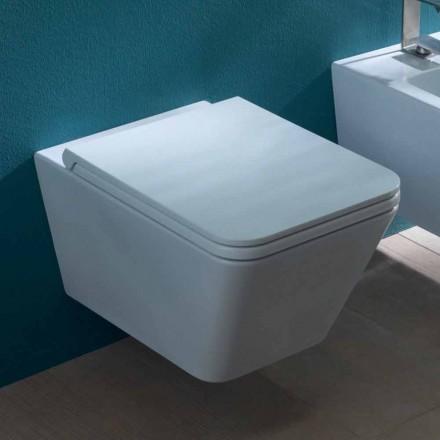 Keramik vas hängande toalett, modern design, Sun Square gjort i Italien