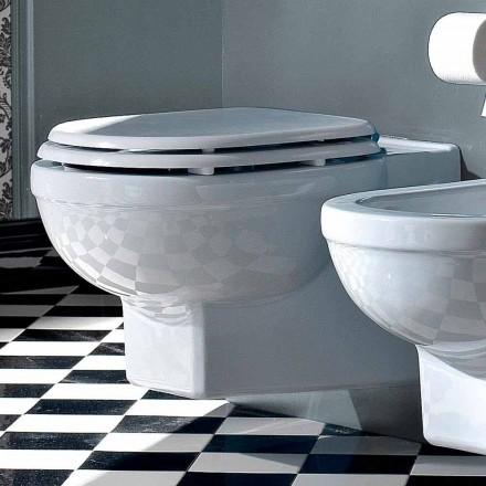 Wc Suspended Vase Classic Style i vit keramik tillverkad i Italien - Marwa