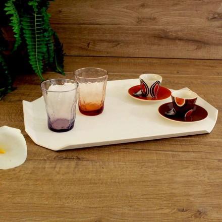 Skärbräda för köksmagasin i vit Corian elegant rektangulär design - Ivanova