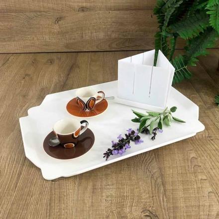 Elegant köksbricka i vit Corian rektangulär skärbräda - Ivanova