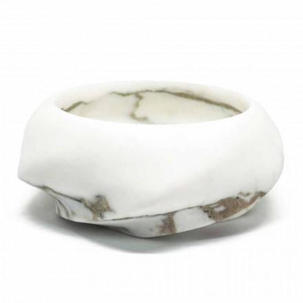 Rund designbricka i Arabescato Marble Tillverkad i Italien - Casimir
