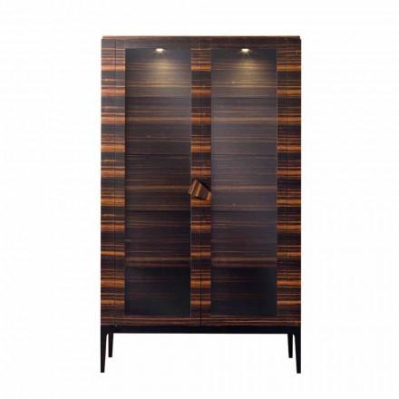Grilli Zarafa massivt träskåp med 2 dörrar gjorda i Italien av design