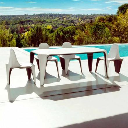 Vondom F3 trädgårdsbord L190xP90cm i polyeten, modern design